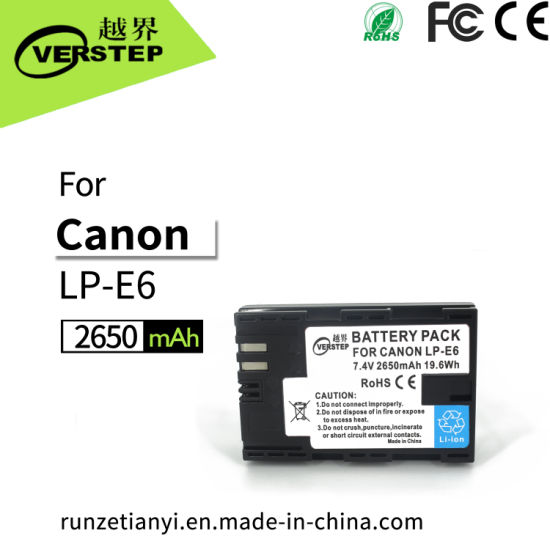 New Decoding Digital Camera Battery for Canon Lp-E6/Lp-E6n Lpe6/Lpe6n Display Electricity Quantity pictures & photos