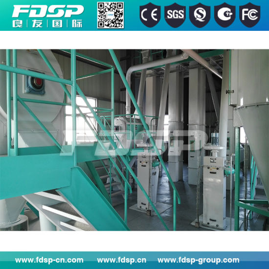 High Quality 5-15tph Animal Feed Pellet Production Line Equipment with Ce pictures & photos