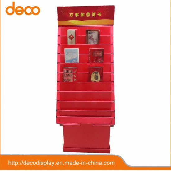 China Paper Display Cardboard Pop Display Greeting Card Display Simple Cardboard Card Display Stand