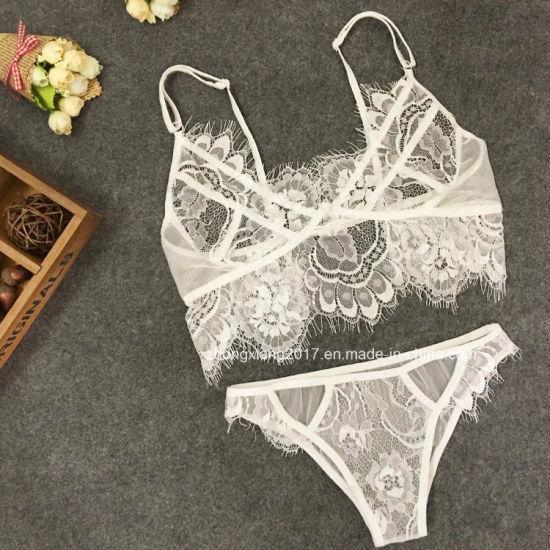 0ad37e045 China Wholesale Transparent Wear Lace Bra Set Women Sexy Underwear ...
