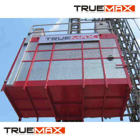 Dual Cage Ce Approved Painting Mast Section Building Hoist pictures & photos