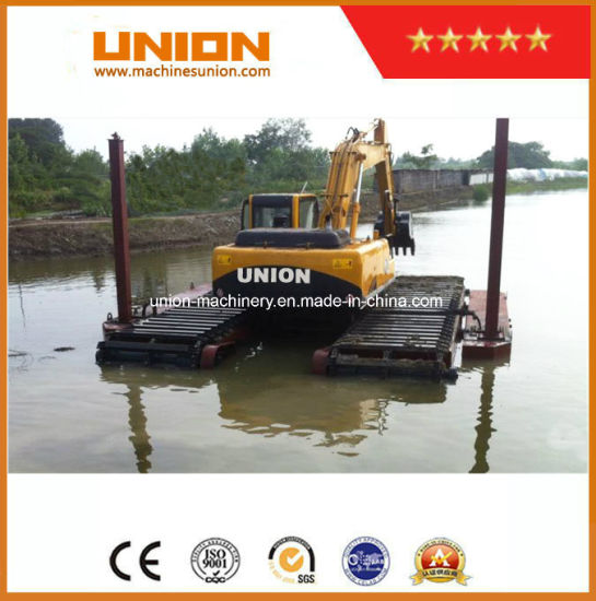 Amphibious Excavator 20t with Hydraulic Pontoon Cheap Price for Sale