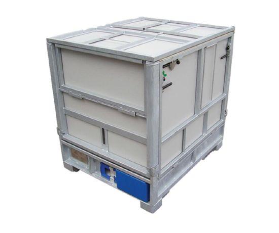 1000L Steel Galvanized Folding Intermediate IBC Bulk Container