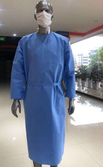 Knitted Cuffed AAMI Level 3 Non Woven SMS Hospital Use Standard Sterile Surgical Gowns