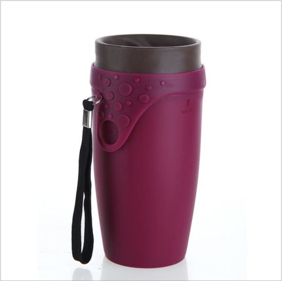 Neolid Twizz Plastic Straw Coffee Mug with Rotating Lid (DC-TW-350) pictures & photos
