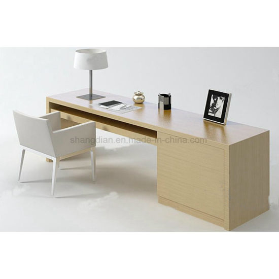 Bedroom Hotel Writing Desk Solid Wood Frame Customized Size (SW 05)