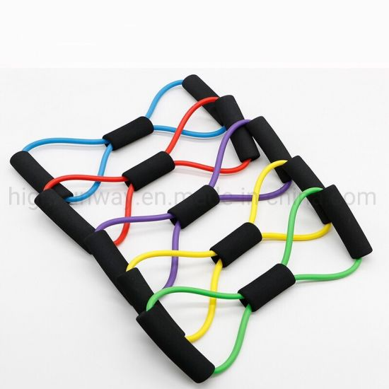 8 Shape Gym Equipment Latex Tube Fitness Sport Exercise Resistance Band