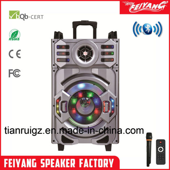 Party Outdoor Big Power Wireless System Bluetooth Speaker With Trolley 12 Inch F12 21