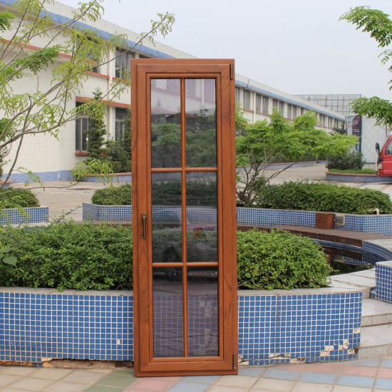 Wood Casement Glass Windows And Doors, Facing/Outside/Vertical Hinged/Swing  Open