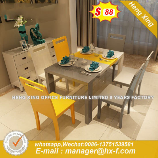 Industrial Style Furniture Public White Laminate Board Dining Table (HX-8DN055) pictures & photos