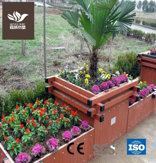 Fireproof and Waterproof WPC Flower Pot Garden Planter
