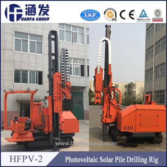 Hfpv-2 Photovoltaic Solar Spiral Pile Rig, DTH Blasting Hole Drilling Rig Manufacturer pictures & photos