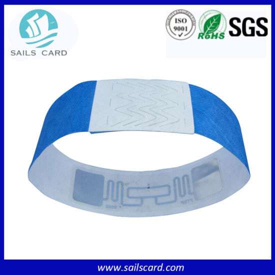 Length Adjustible Cheap Soft Plastic UHF RFID Bracelet/Wristband pictures & photos