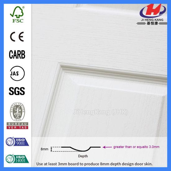 China 6 Panel Interior Bathroom Molded Solid Wood White Doors Jhk