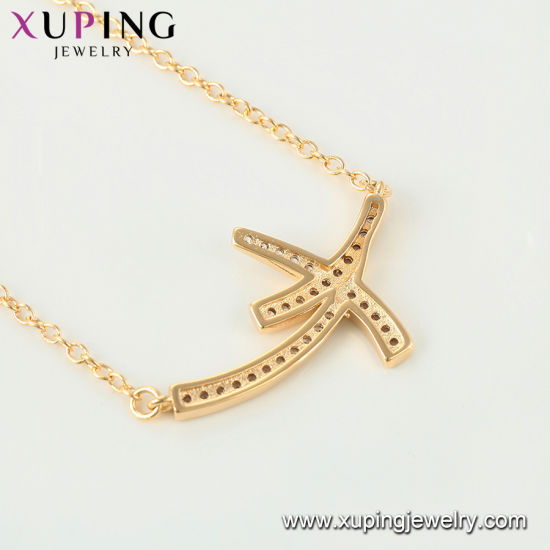 44512 Fashion Popular 18 Gold Case Cube Design Necklace 1mm Thin Chain pictures & photos