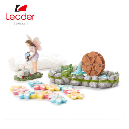 China Newest Wholesale Resin Fairy Garden Miniature Kit Miniature Garden Accessories China Resin Miniatures And Mini Garden Price