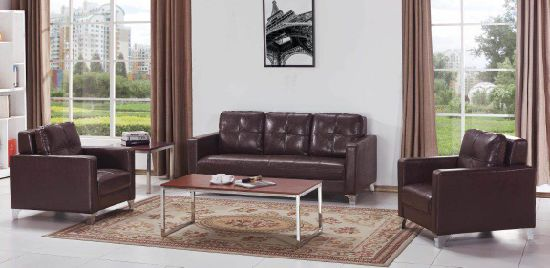 Simple Visitor Reception Business Sofa Office Furniture Fashion Sofa Coffee Table Combination (FEC8823) pictures & photos