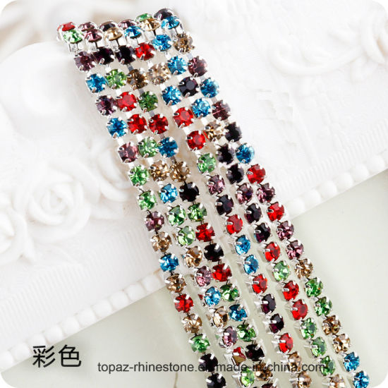 2019 New Items Cup Chain Strass Roll Crystal Trimming Rhinestone for Clothing (TCG-coloured)