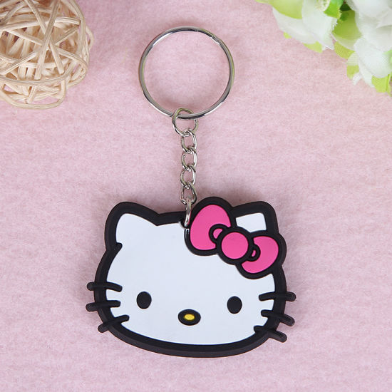 China Fancy Girl Bag Charm Cute Hello Kitty Pvc Keychain China