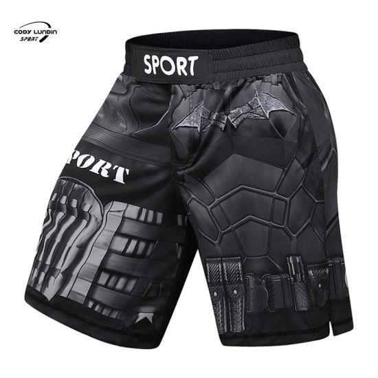 Cody Lundin Short Pants China Custom Manufacturer MMA Black Short Training Fight Boxing Shorts