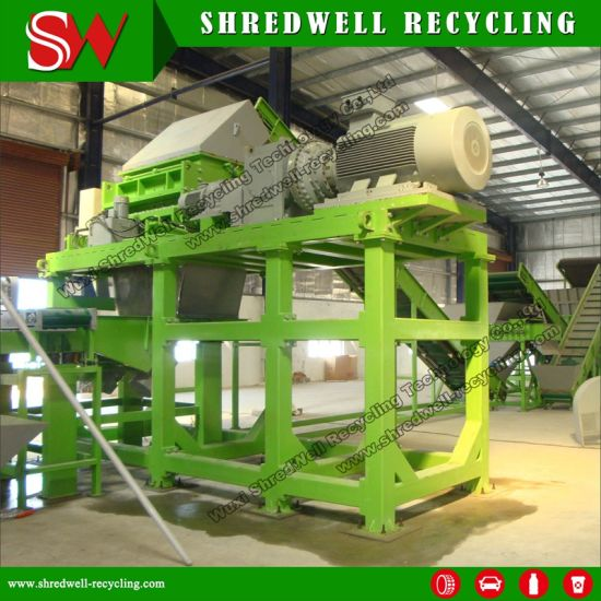 Scrap/Waste/Used Wire Free Rubber Mulch Shredding Machine for Tire Recycling pictures & photos