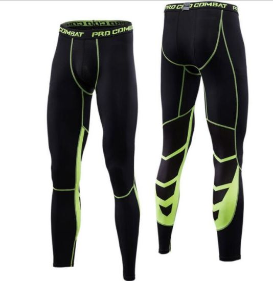 China Men S Sport Leggings Nine Point Pants Cycling Running Speed Dry Football Basketball Fitness Training Leggings China Legging And Gym Legging Price
