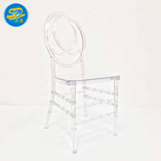 Factory Wholesale Wedding Event Resin/PC Acrylic Crystal Chiavari Ghost Dining Chair