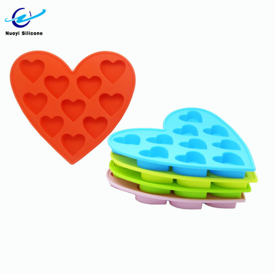 9 Cavities Silicone Clear Ice Ball Maker Heart Shape Wholesale Ice Cube Tray