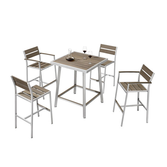 Bar Aluminum Plastic Wood Table