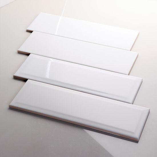 China 100x300 Glossy Matt Glazed Ceramic Subway Wall Tile Kitchen Backsplashes Design In White China Glossy White Kitchen Tile Glazed Subway Tile