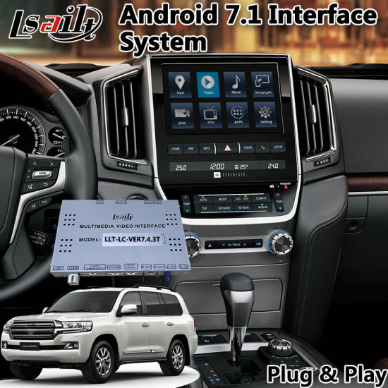 China Android 6 0 Interface GPS Navigation System for Toyota Land
