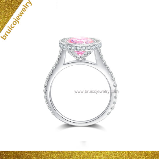 Luxury Fashion Diamond Jewelry 925 Sterling Silver Jewellery Gemstone Ring 9K 14K 18K Gold Wedding Ring pictures & photos