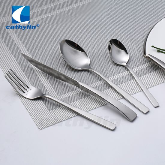 Hot Sale Silver Stainless Steel Cutlery Included Table Knife Fork Spoon
