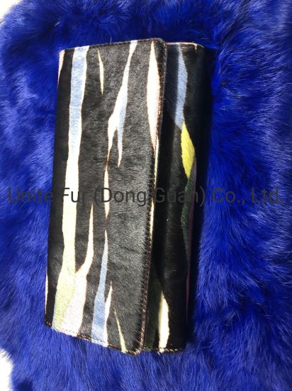 New Striated Pattern Design, Fashion, Customized, Lady Cow Hides Skins with Horse Hair Calf Leather Hot Sales Hand Bags
