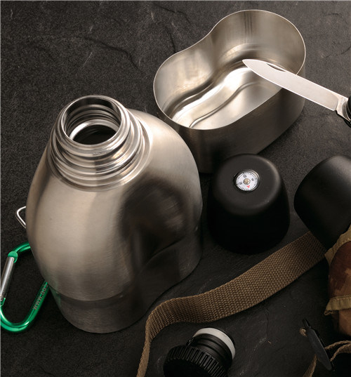 Stainless Steel Double Wall Vacuum Military Canteen pictures & photos