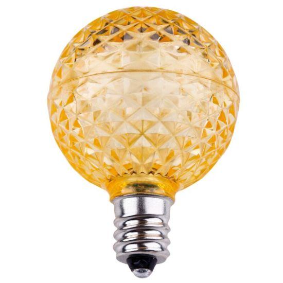 Lower Power E17 G40 Faceted LED Bulb - Sun Warm White