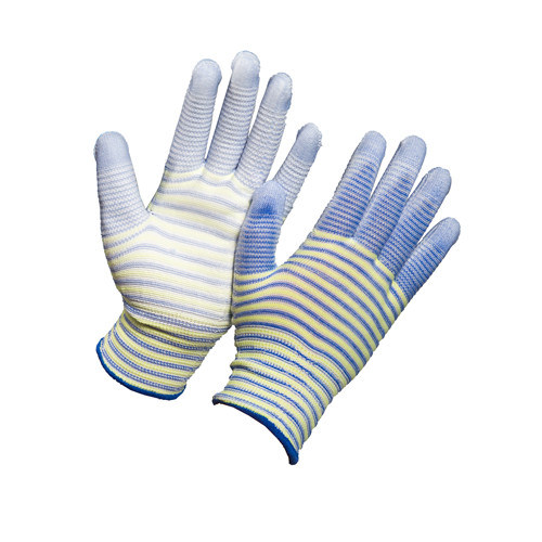 Safety Work Labor Dipped Glove Polyester with PU Coated on Palm