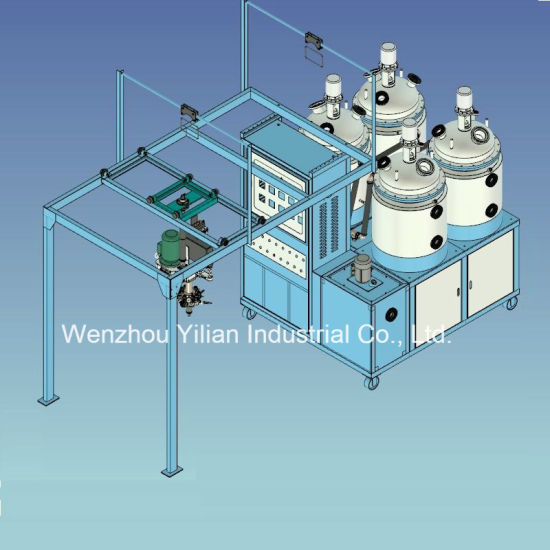 Four Tank Double Color Double Density Conveyor Type Machine for Safety Shoes