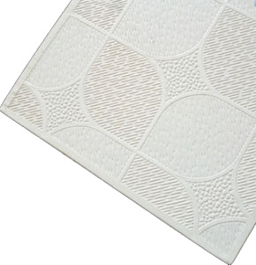White Gypsum Plasterboard Ceiling Tiles For Office Household