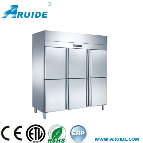Air Cooling Stainless Steel Freezer Commercial with Ce (D1.6L6FB) pictures & photos