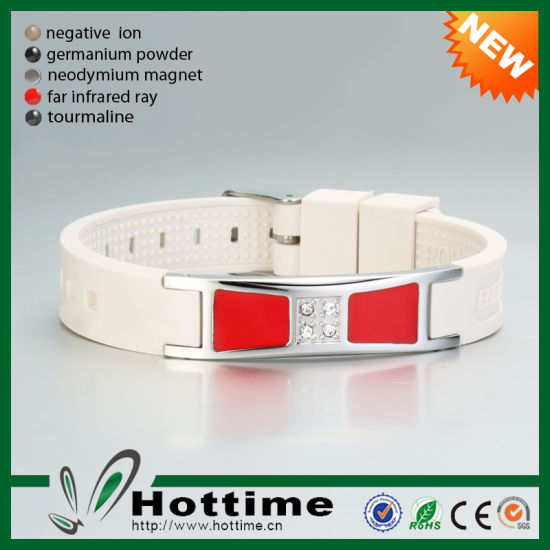 Hot Silicone Wrist Band Available for Personalized Logo (CP-JS-ND-006) pictures & photos