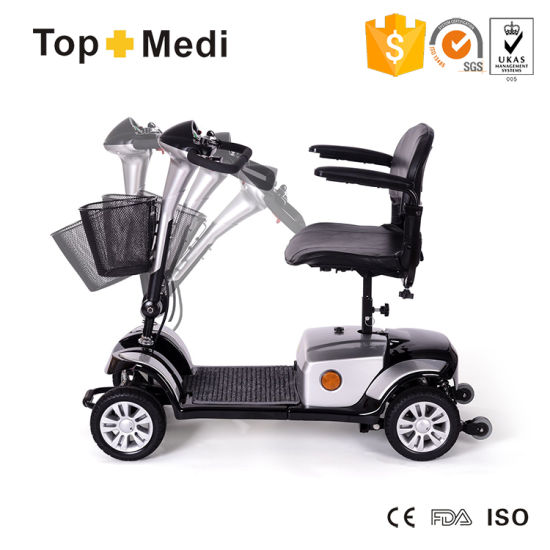 Four Wheels Foldable electrical Mobility Scooter with Anti-Wheel pictures & photos