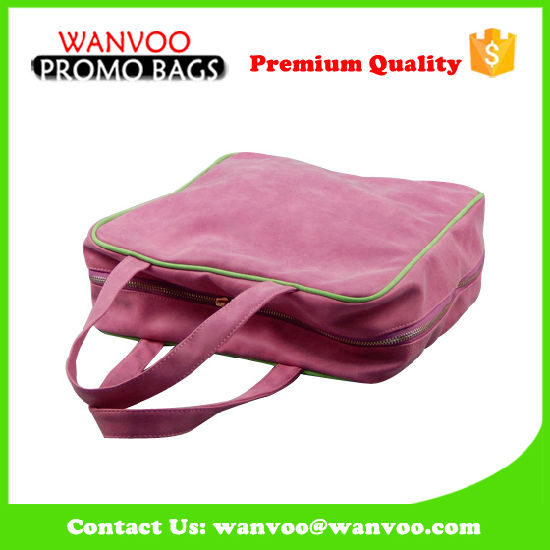 Unisex Big Volume Portable Cosmetic Shoulder Bag with Strap in Durable PU Material pictures & photos