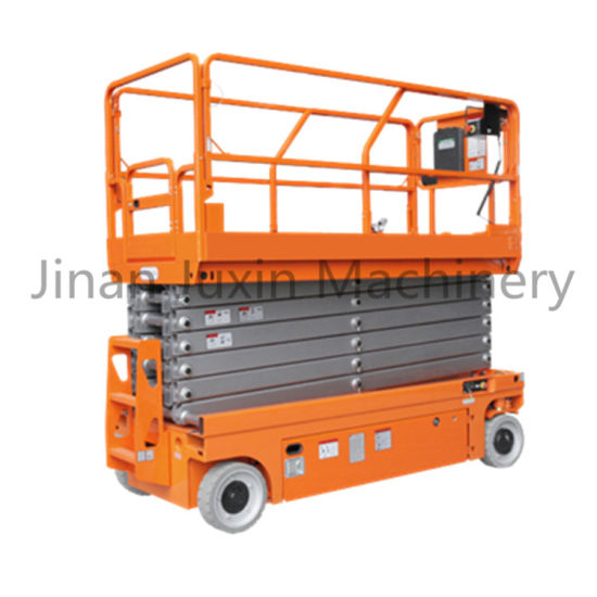 12m Height Self Propelled Scissor Lifter Mobile Vertical Man Lift Factory Price