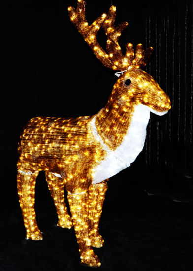 led christmas decoration reindeer lights for light show