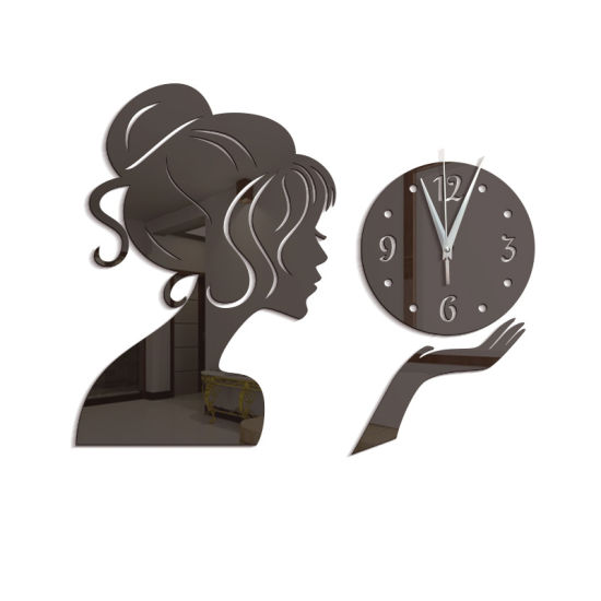 Diy Living Room Beauty Girl Modern Acrylic Mirror Surface 3d Simple Big Size Wall Decor Clocks Numbers Stickers China Clocks Numbers Stickers And Clocks Stickers Price Made In China Com