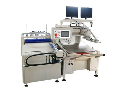 HY-D56 Double-Sided Dust Removal Automatic Screen Printing Machine Label Packing Silk Screen Printer Machinery Heat Transfer