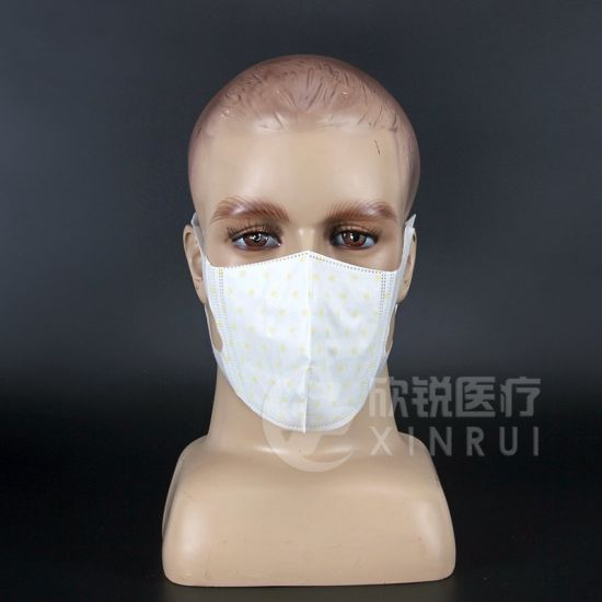 Disposable Non-Woven Dust Face Mask with Ultra Soft Ear-Loop and Tile Pattern