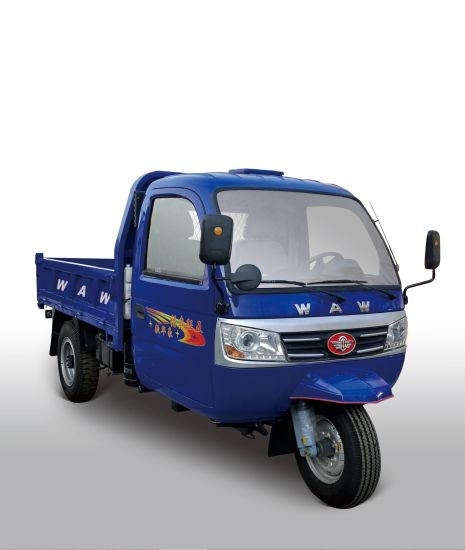 Closed Cargo Diesel Motorized 3-Wheel Tricycle with Cabin From China