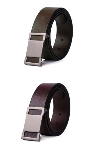 Top Quality Men's Cowhide Belts with Press Buckles